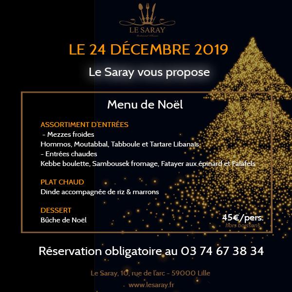 Réveillon de Noël 2019 au cœur de Lille
