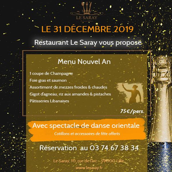 Célébrez le réveillon de Nouvel An 2019-2020 au cœur de Lille