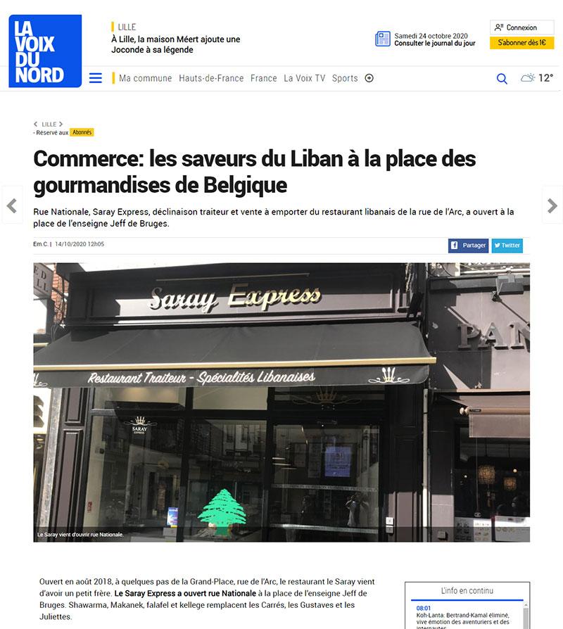 Les saveurs du Liban à la place des gourmandises de Belgique